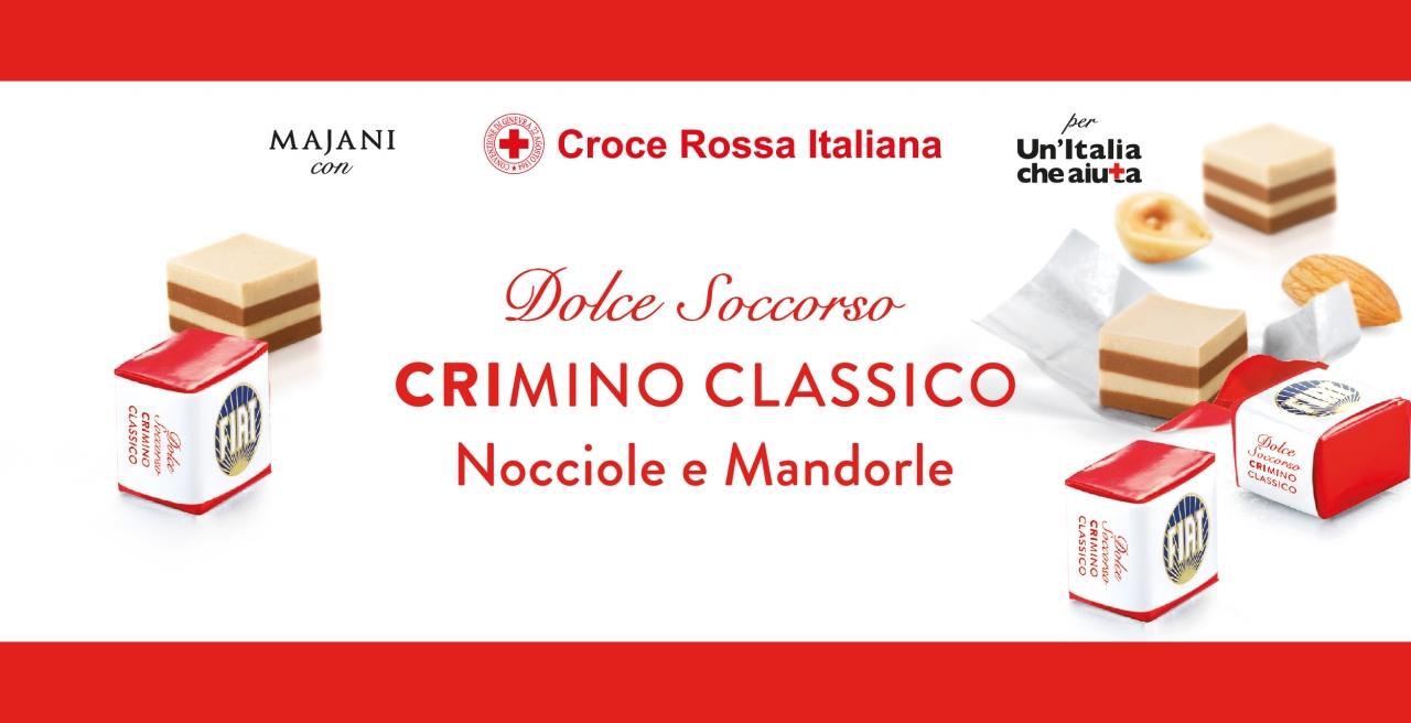Arriva il CRImino che fa bene al cuore Croce Rossa Italiana e Majani insieme per un Dolce Soccorso